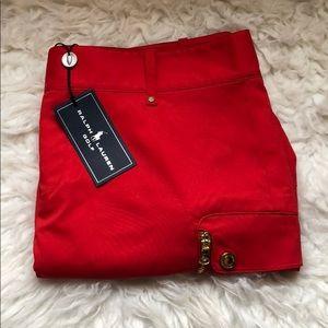 Ralph lauren red womens golf skirt NWT